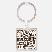 crosscountrycoachbrown Square Keychain