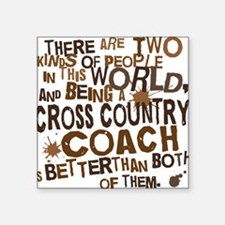 """crosscountrycoachbrown Square Sticker 3"""" x 3"""""""
