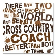 """crosscountrycoachbrown Square Car Magnet 3"""" x 3"""""""