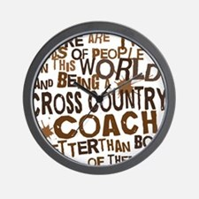 crosscountrycoachbrown Wall Clock