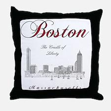 Boston_Wmn_plusv_front_Skyline_BlackR Throw Pillow