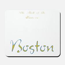 Boston_10x10_Skyline_TheHubOfUniverse_Wh Mousepad