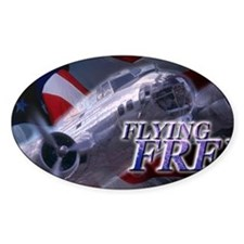LicPlate-Miltary-FlyingFree Decal