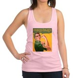 St patricks day Womens Racerback Tanktop