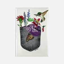 Pocket Wildflowers Rectangle Magnet