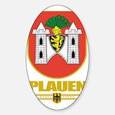 Plauen (Flag 10) Sticker (Oval)