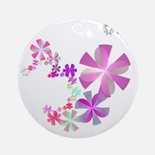 Simple Flowers 1 Round Ornament