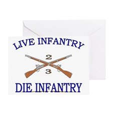2nd Bn 3rd Infantry cap3 Greeting Card