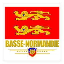 "Basse-Normandie (Flag 10 Square Car Magnet 3"" x 3"""
