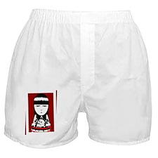 Goth Girl White Boxer Shorts