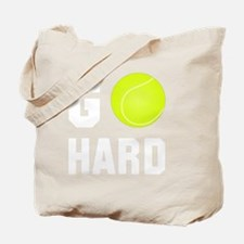 Go Hard Tennis White Tote Bag