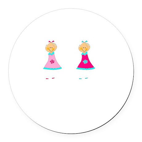 Sister Smile White Round Car Magnet