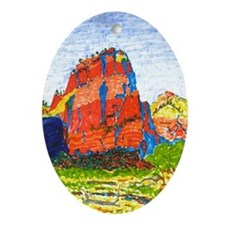 Zion: Angels Landing Oval Ornament