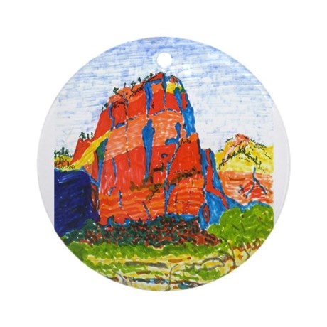 Zion: Angels Landing Ornament (Round)