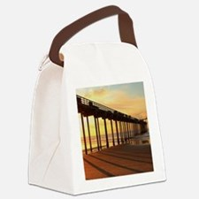 Scripps-Pier-Sunset1 Canvas Lunch Bag
