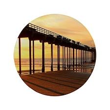"""Scripps-Pier-Sunset1 3.5"""" Button"""