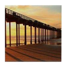 Scripps-Pier-Sunset1 Tile Coaster