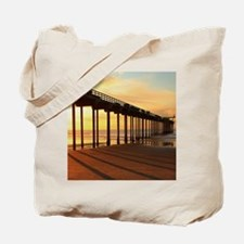 Scripps-Pier-Sunset1 Tote Bag
