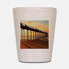 Scripps-Pier-Sunset1 Shot Glass