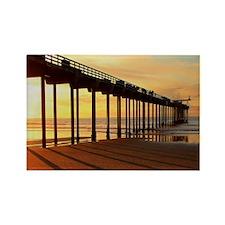 Scripps-Pier-Sunset1 Rectangle Magnet