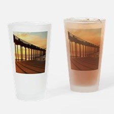 Scripps-Pier-Sunset1 Drinking Glass
