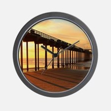 Scripps-Pier-Sunset1 Wall Clock