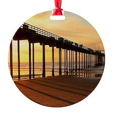Scripps-Pier-Sunset1 Ornament