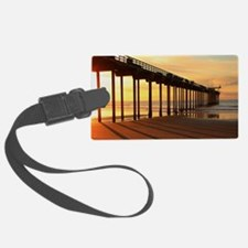 Scripps-Pier-Sunset1 Luggage Tag