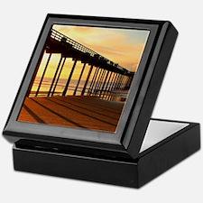 Scripps-Pier-Sunset1 Keepsake Box