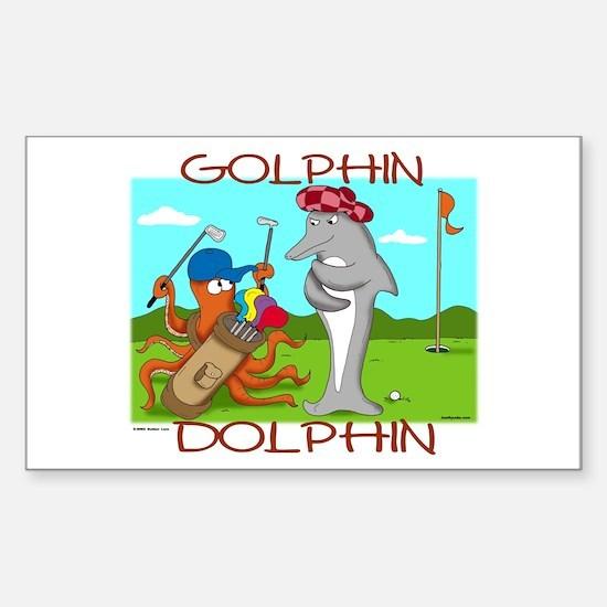 Golphin Dolphin Rectangle Decal