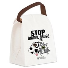 stop-animal-abuse-pins-01 Canvas Lunch Bag