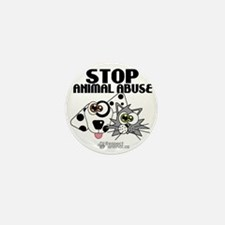 stop-animal-abuse-pins-01 Mini Button