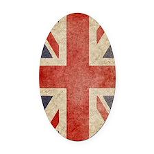 iPad Faded UK Oval Car Magnet