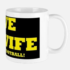 football ilovemy wifed Mug