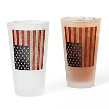 iPad Faded USA Drinking Glass
