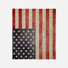 iPad Faded USA Throw Blanket