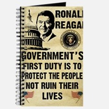 Governments First Duty Small Poster Journal