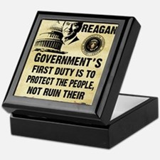 Governments First Duty Small Poster Keepsake Box