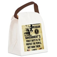 Governments First Duty Small Post Canvas Lunch Bag