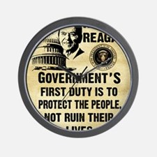 Governments First Duty Small Poster Wall Clock