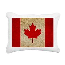 Faded Canada Rectangular Canvas Pillow
