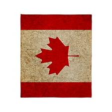 iPad Faded Canada Throw Blanket