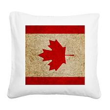 iPad Faded Canada Square Canvas Pillow