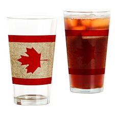 iPad Faded Canada Drinking Glass
