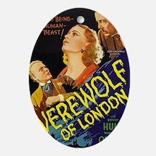 werewolf of london 300dpi BIG Oval Ornament