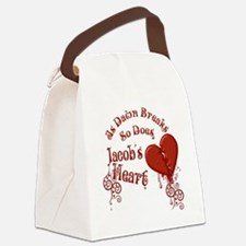 Jacobs Heart Canvas Lunch Bag
