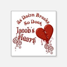 "Jacobs Heart Square Sticker 3"" x 3"""