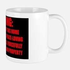 WARNING - Red Impact text for Rect. Sti Mug