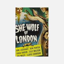 shewolflondon300dpi BIG Rectangle Magnet
