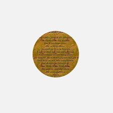 Lords Prayer_Gold frame Mini Button